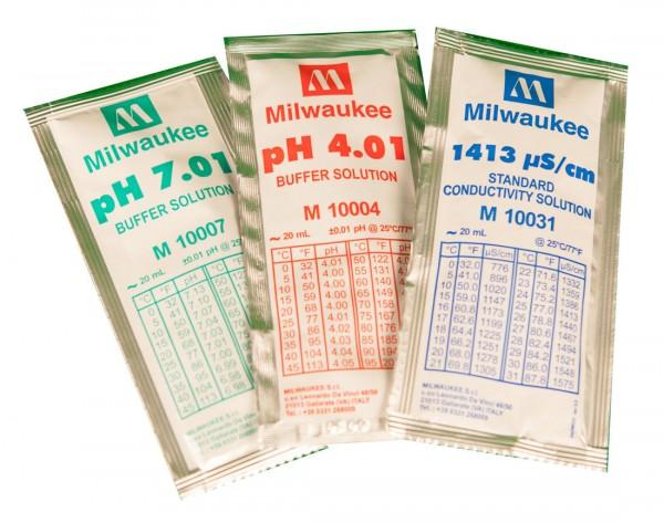 Milwaukee EC 1.413 Eichlösung 25 versiegelte Tütchen in jeder Box, Inhalt 20ml